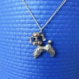 Poodle Dog Necklace - Vintage